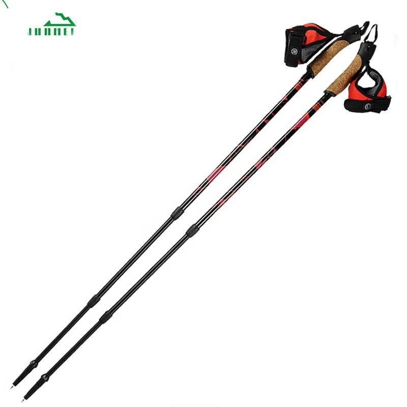 Factory price hot sales Nordic Walking mountaineering adjustable trekking hiking poles