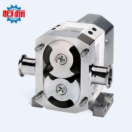 positive displacemen sanitary pumps for viscous liquids honey/pudding/congee/cheese/molasses rotor rotary tri lobe pump