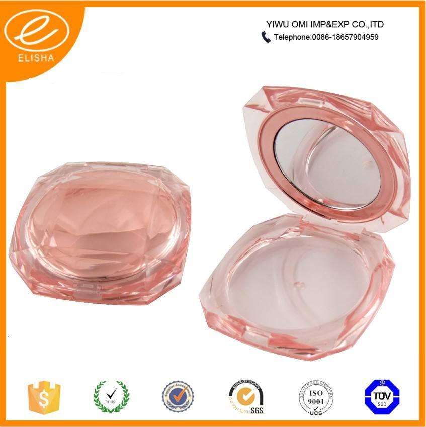 180A розовый квадрат косметических компактный чехол пакет пустой пудра чехол
