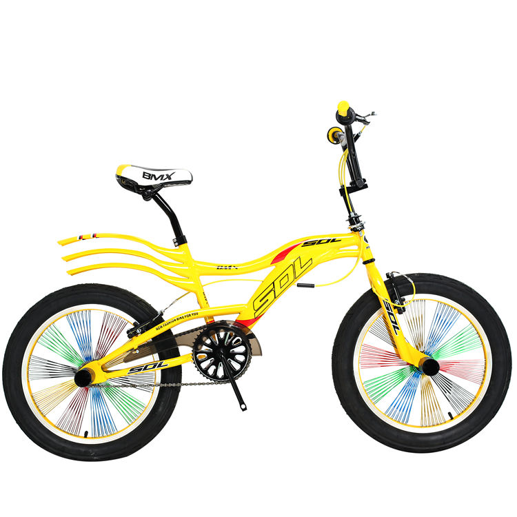 High quality factory direct sale of sdl yellow 26inch daily life bike Rainbow tire carbon steel frame cheap mountain bike