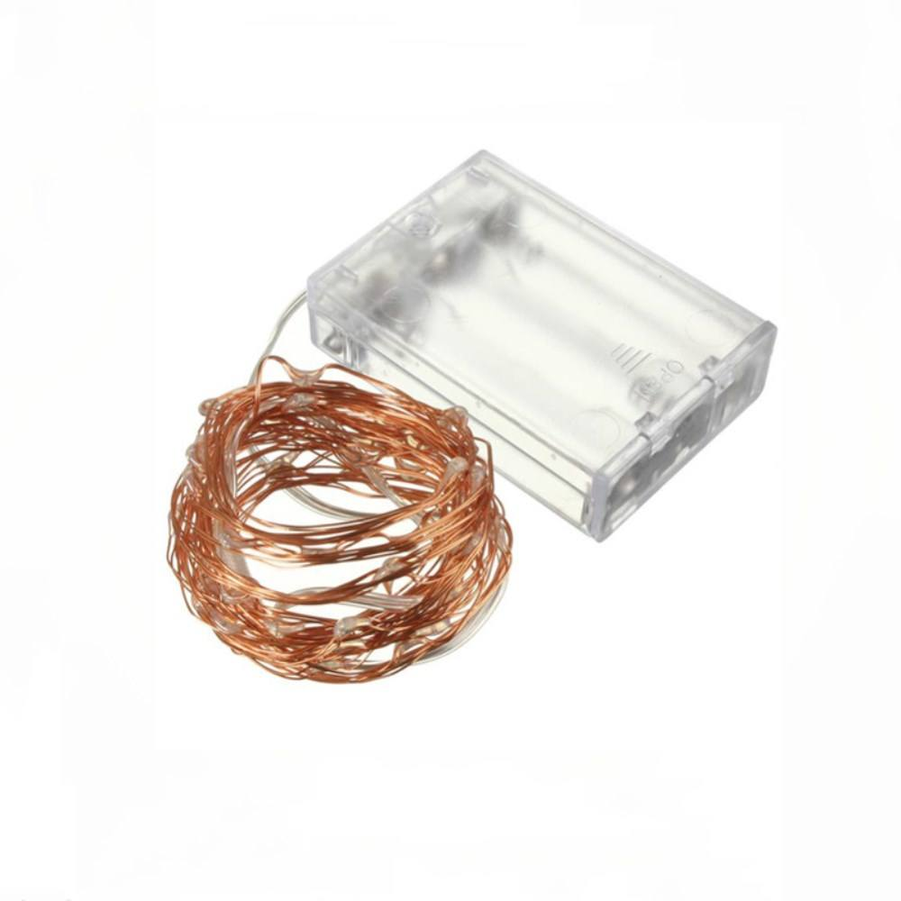 Black Friday Promotion 3 AA Battery Powered 10M 100 LED Mirco Rice LED Warm White Copper Wire Fairy Light Strings For Decorate