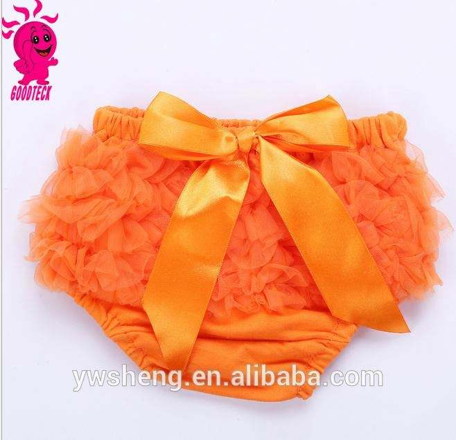 Baby Infant Girl Yellow Cotton Chiffon Ruffle Panty Bloomers Diaper Covers S M L