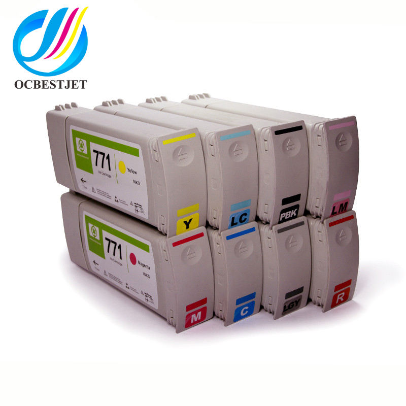 Ocbestjet Gereviseerde Printer Inktcartridges voor HP 771 Z6200 Z6600 Z6800 remanufactured inkjet cartridge