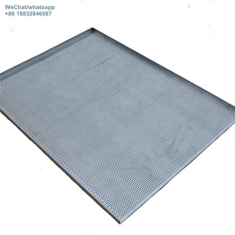 Durable baking cookie sheet pan, aluminum perforated baking tray