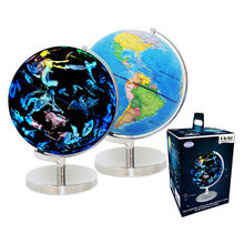 Gelsonlab HSGA-031 Educational 8 inch World Globe  Built in LED Light with World Map and Constellation View