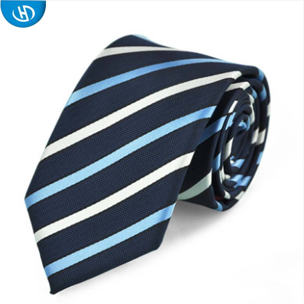 New Style Polyester Striped Korean Mens Short Neckties In Zhejiang