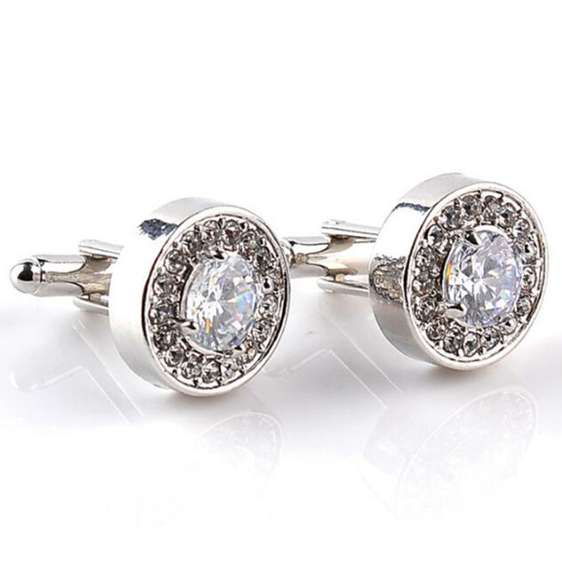 2018 Wholesale (High) 저 (Quality Diamond Cufflinks