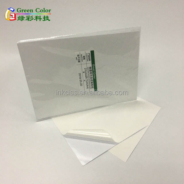 Waterproof matte self adhesive inkjet synthetic inkjet PP label sticker paper A4