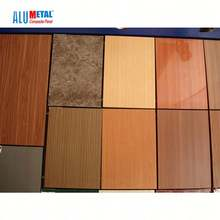 Side length 1.83mm-15mm wooden aluminum composite panel