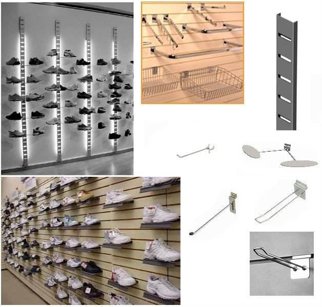 Yongse 25pcs 100mm Pedboard Hook Board Wall Retail Display Shop Peg Slat Walling
