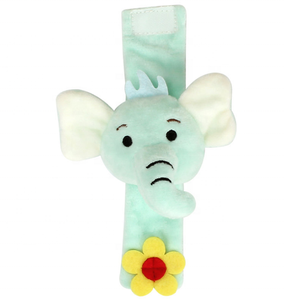 Enlightening educational plush toys soft animal baby wrist rattles