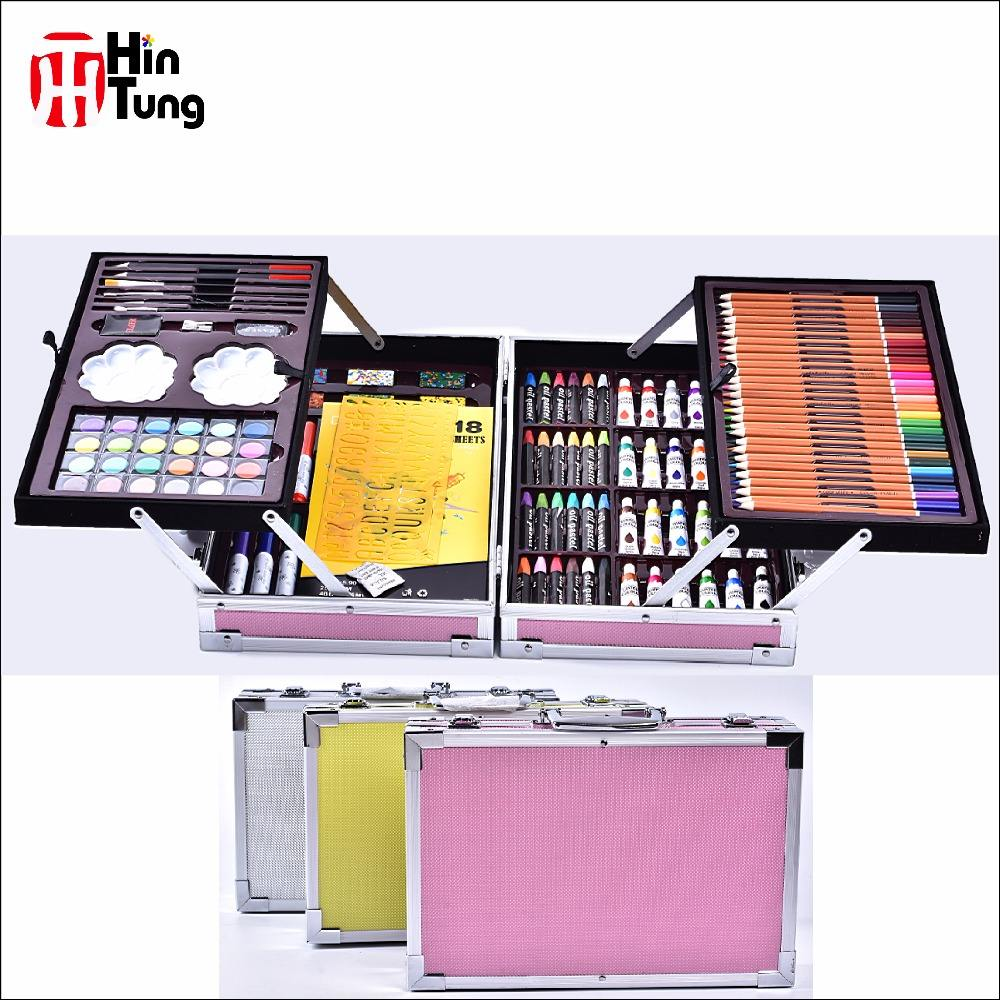 200pcs Alu Box Packed Drawing and Painting Set for kids