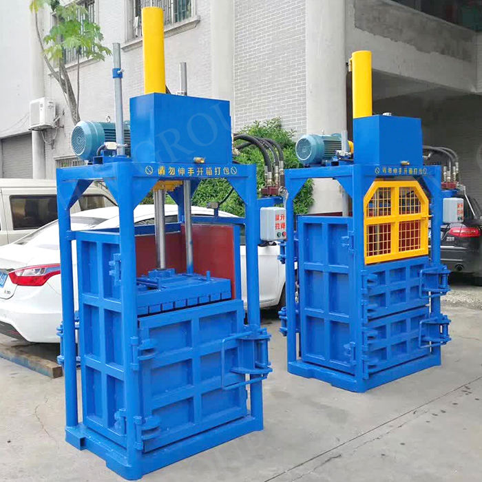 Carton Plastic Compress Baler Packing Machine/ Cardboard Press Bundling Machine