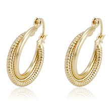93715 Xuping dubai simple jewellery women alloy ear ring+jewelry fashion hoops 14k gold earrings+14 karat gold jewelry wholesale