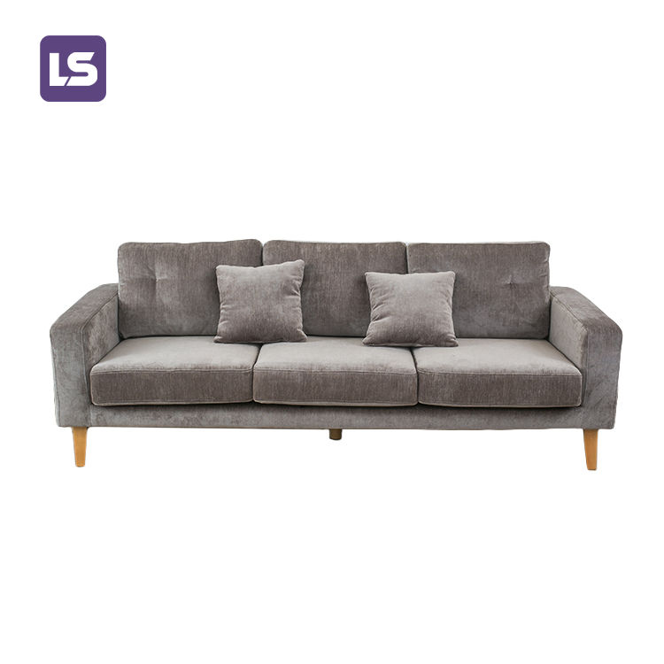 Modern Relaxing LH17/SH45 Lounge Velvet Chesterfield living room sofa