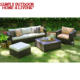 Best Selling Leisure Ways PE Rattan Patio Furniture Lounge Sofa Set With Cushion World Source International Patio Furniture