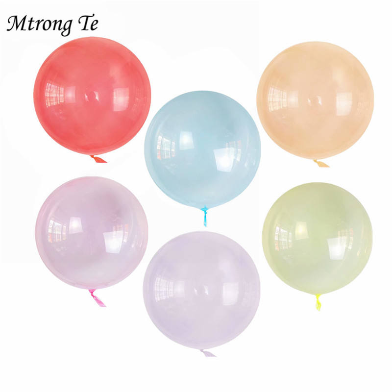 1pc 18 Inch Helium Crystal Bobo Balloons Transparent PVC Balloon Birthday Party Decoration Air Balloons Wedding Decorations