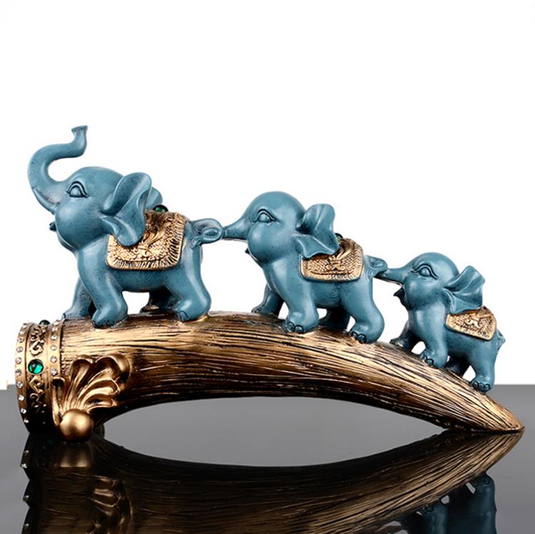 """4/"""" Feng Shui Ivory Color Elephant Statue Figurine"""