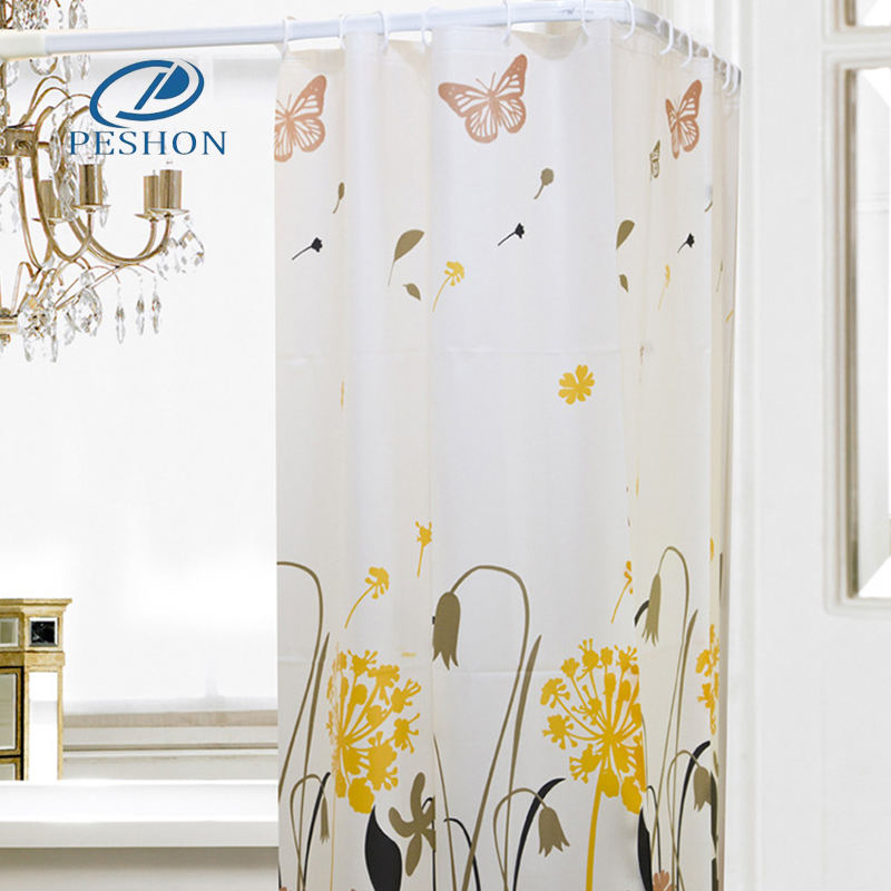 High quality L shaped bathroom white shower curtain rod made in China