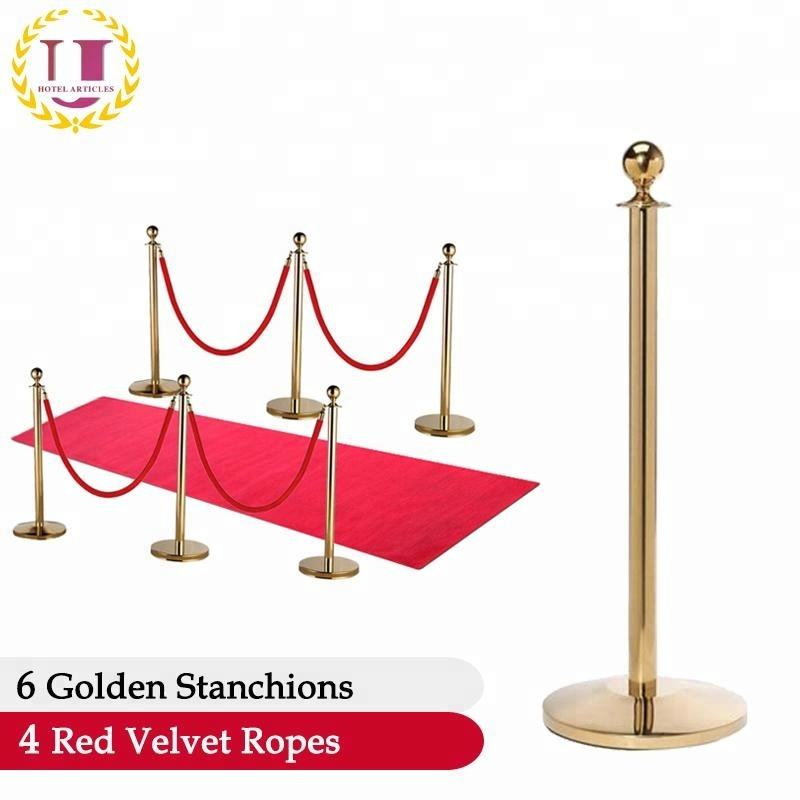 Crowd Control Red Carpet Safety Queue Poles Barriers And Velvet Rope