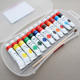 Custom high quality 12 color art painting PP box 12ml gouache tempera paint
