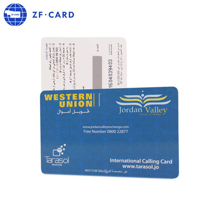 custom printing plastic mobile recharge cards/ PIN scratch cards