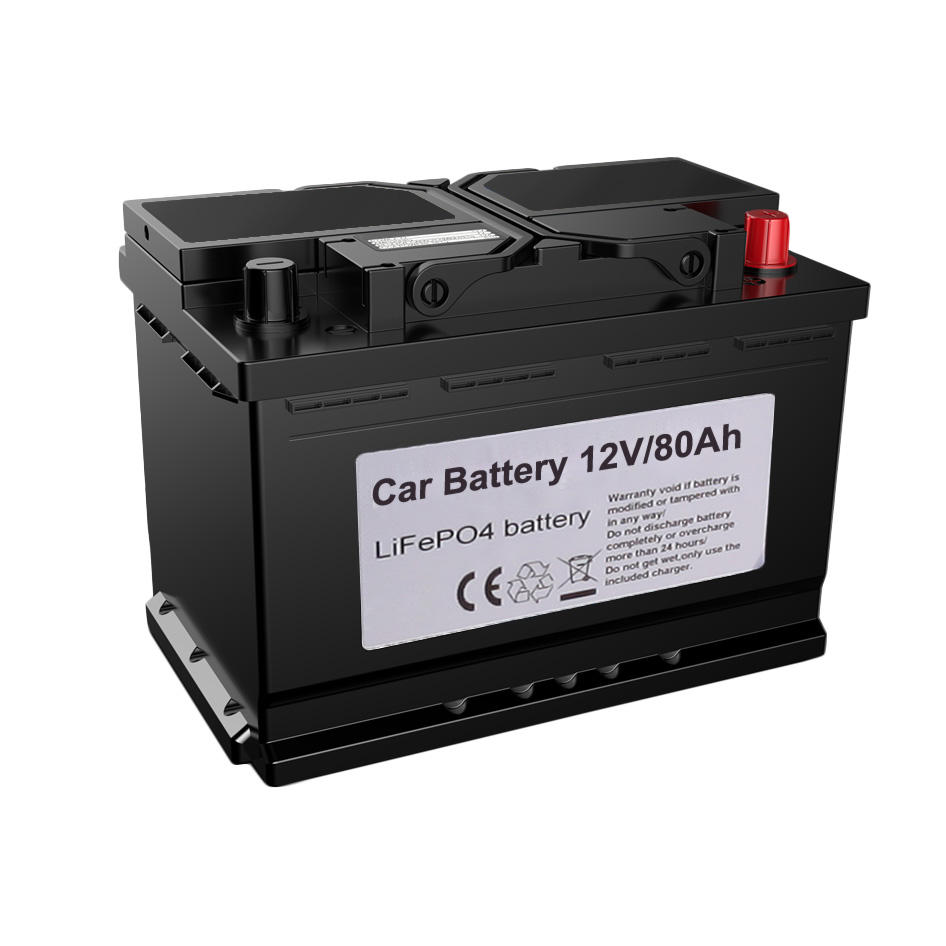 KOK POWER Lithium 12V Car Battery 80Ah Car Battery 6-qw-80 90ah Auto Spare Parts