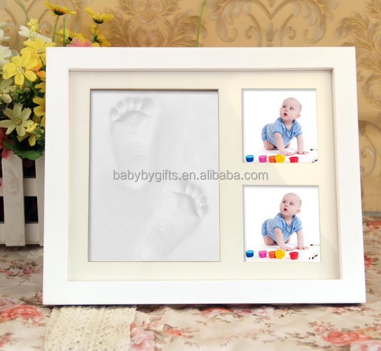 Regalo del bebé-bebé lindo marco de fotos con almohadilla de tinta/foto con ganchos