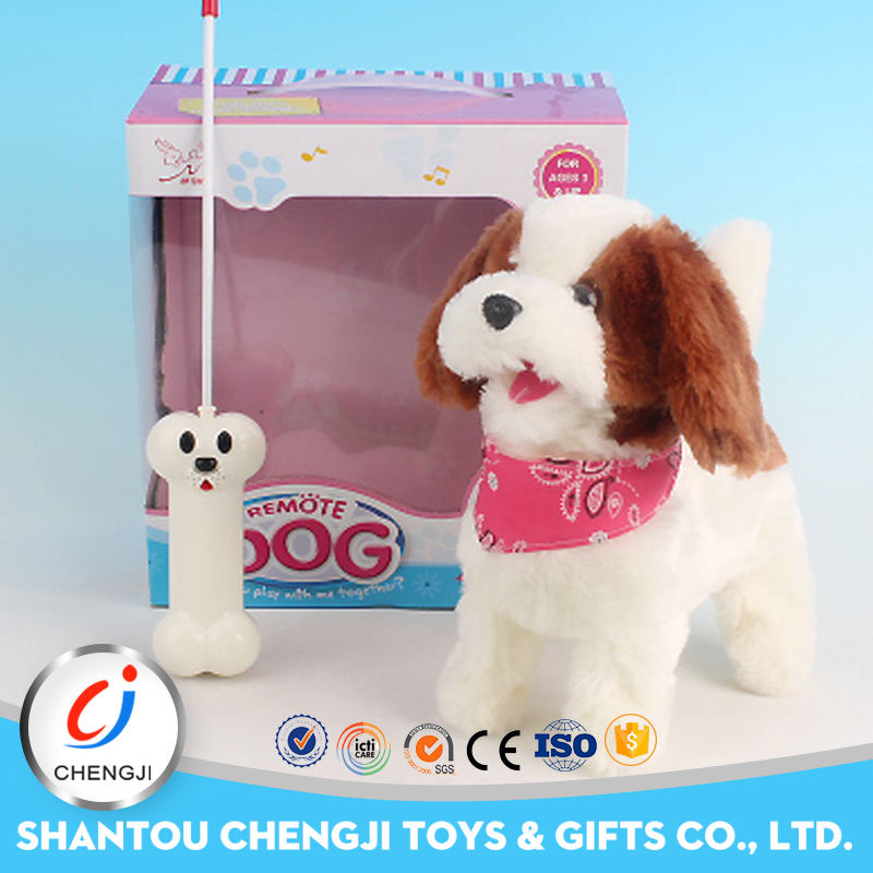 Low price shantou factory wholesale remote control battery operated dog toy for kids