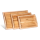 Set Tea Tray Waterproof 3 Pieces Set Bamboo Tea Serving Tray Melamine Tray With Handles
