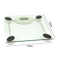 Portable Battery 180kg Digital Body Weight Glass Bathroom Weighing Scale