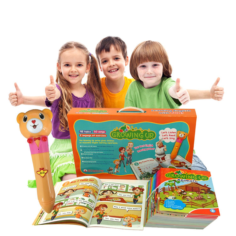 The Latest Comprehensive Children's Growing Up English Talking Pen Books for 3 to 8 years Kids Learning English