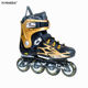 Discount black and gold professional skates 4 wheels inline skates for adults