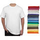 China wholesale classic round neck polyester blank white plain t shirts for men cotton t-shirt