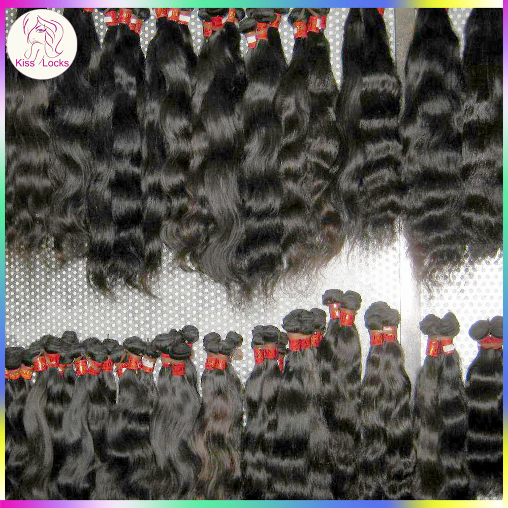 10A Kiss Locks Raw Kiss Locks Virgin Eurasian Human Hair 100% Original Bulk Mink Wavy Extensions Accept PayPal