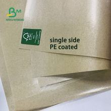 Custom thickness waterproof Single side PE Laminated Paper Roll or sheet