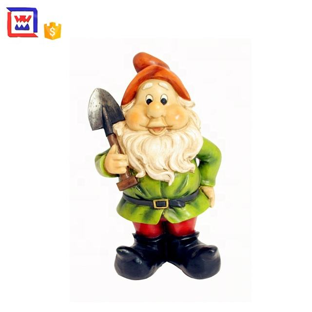 Polyresin Tuin Gnomes Planter Voor Decor