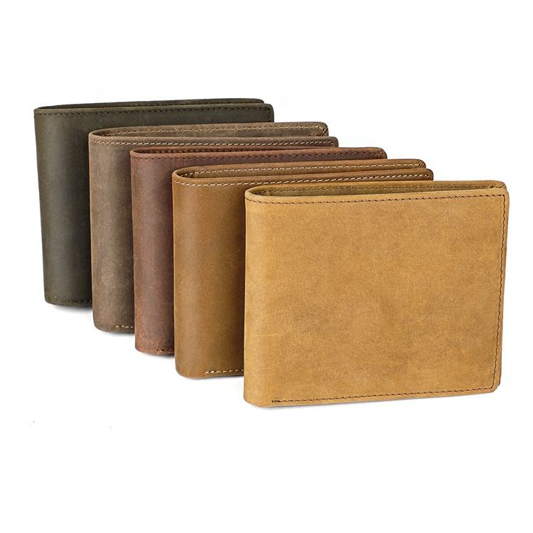 Boshiho High Quality Rfid Blocking Leather Wallet Vendor Geldborse Pocket Mens Wallet for Men
