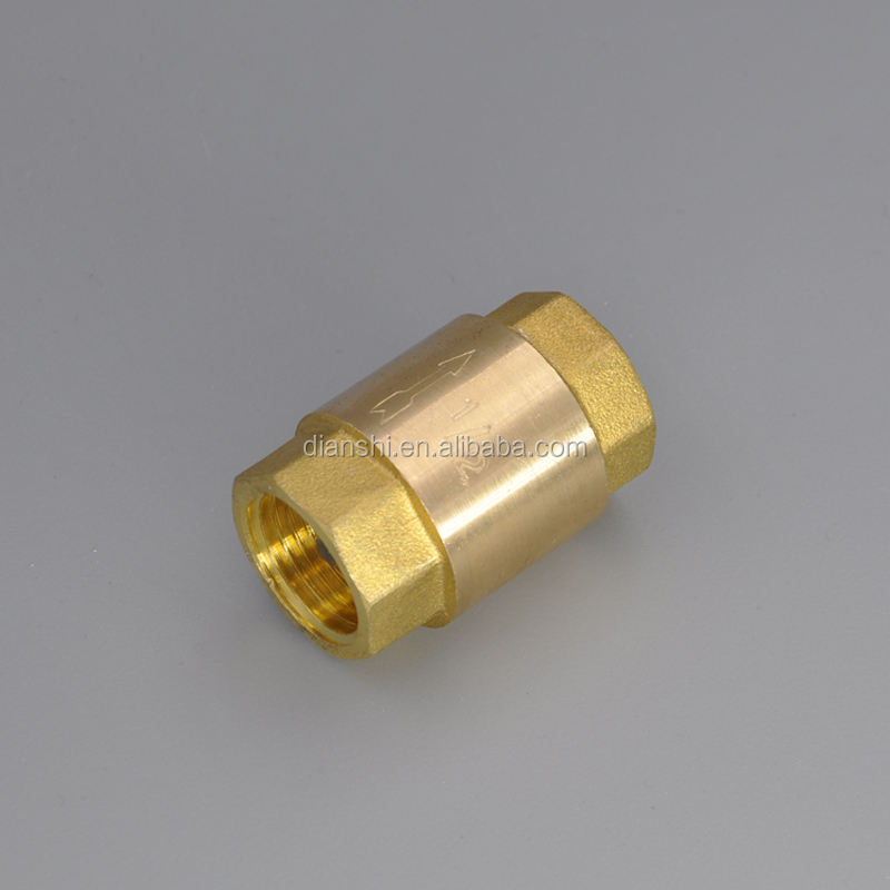 "1/4""-4"" brass spring foot valve check valve female thread with brass/plastic core"