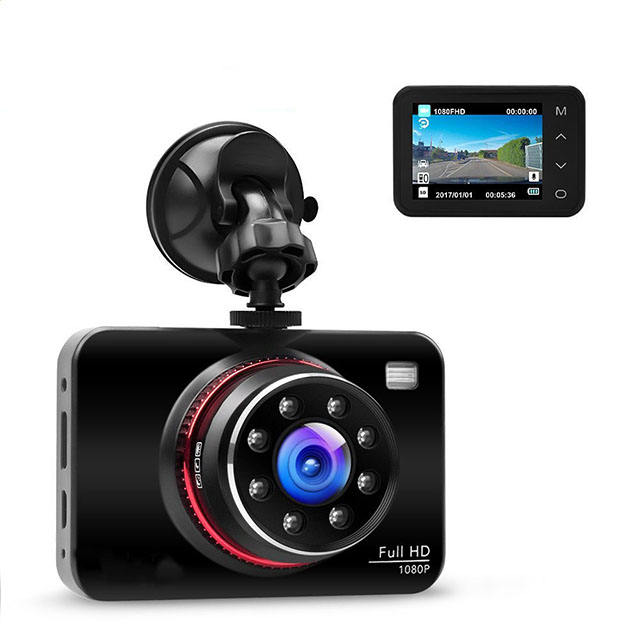 Dash Cam 1080P HD Car Driving Monitor With IR Cam For Night Vision Car Black Box Recording Car DVR