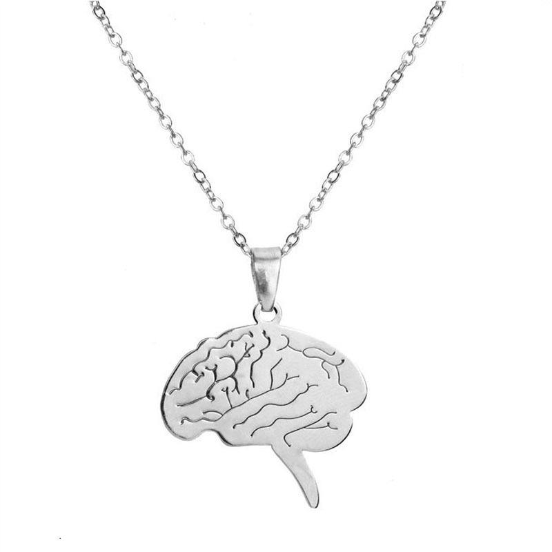 Europe and America adorn article delicate stainless steel brain stem pendant necklace jewelry
