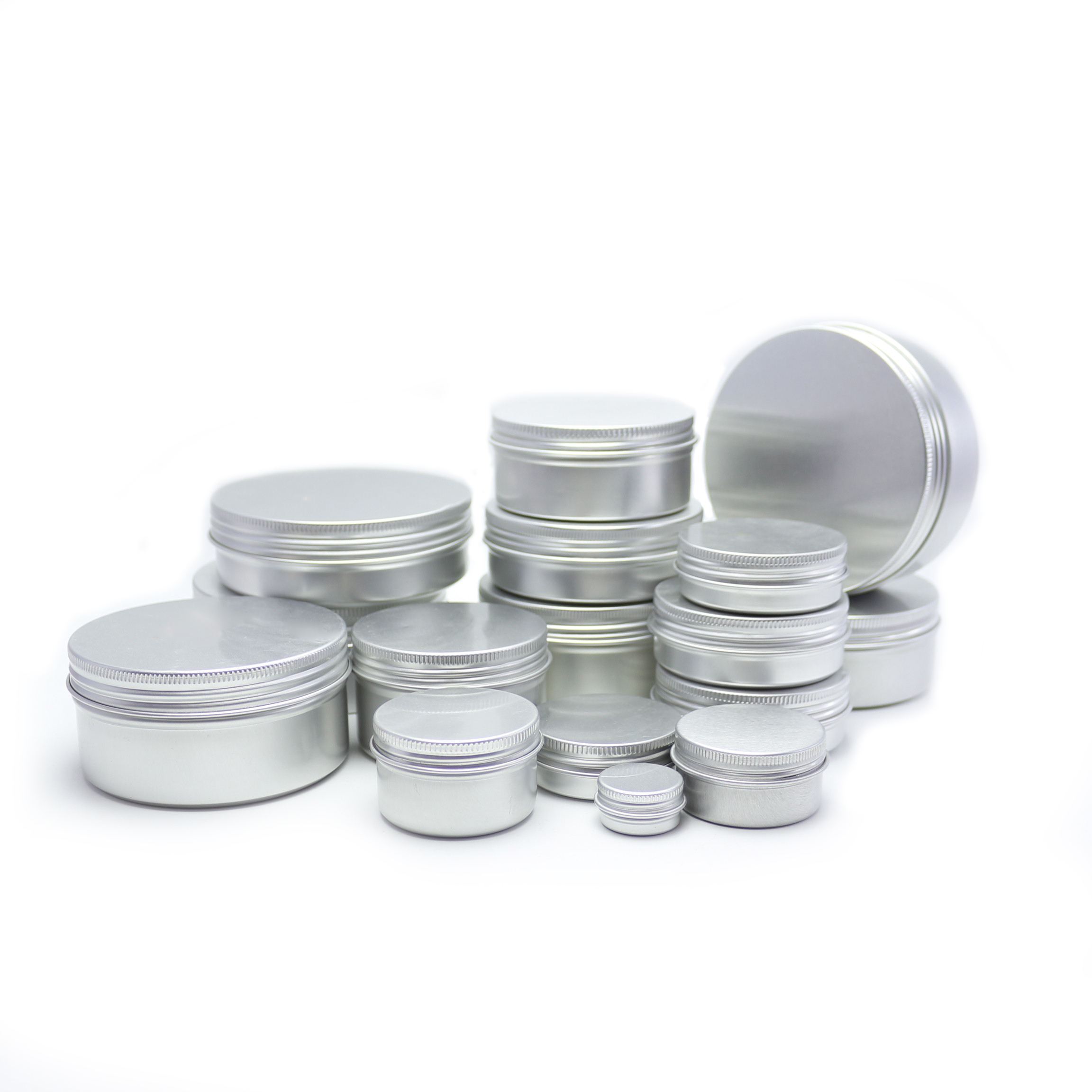 In stock 5g 10g 20g 25g 30g 40g 50g 60g 80g 100g 200g 250g 350g 500g 750g 1000g aluminium jar for cosmetic 888