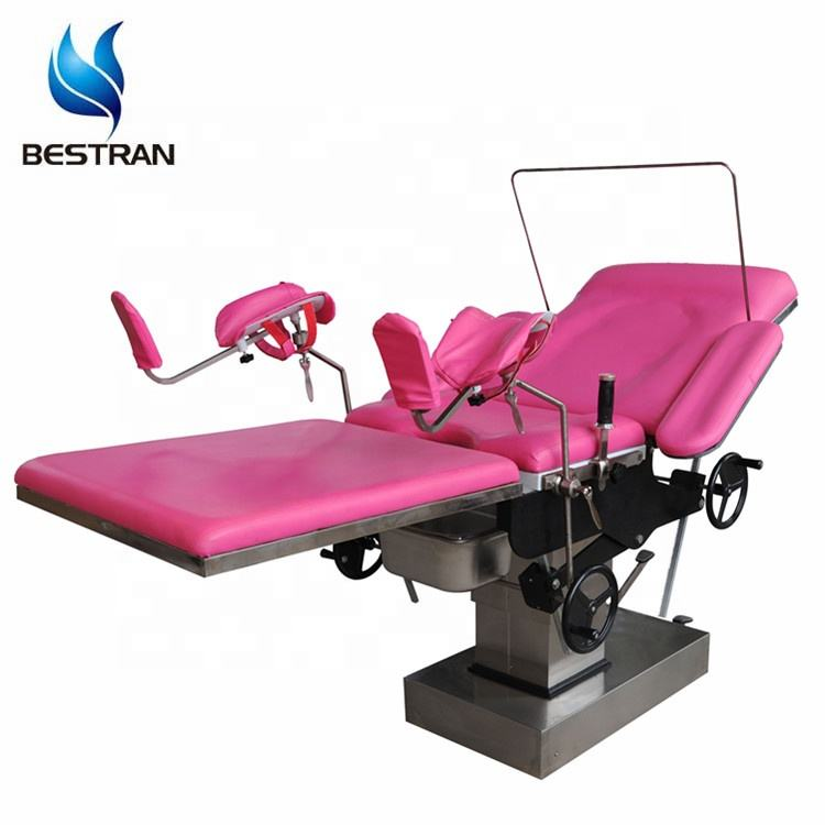 BT-OE014 Hospital hydraulic manual Gynecological Operating medical room maternity labour birthing obstetric delivery tables