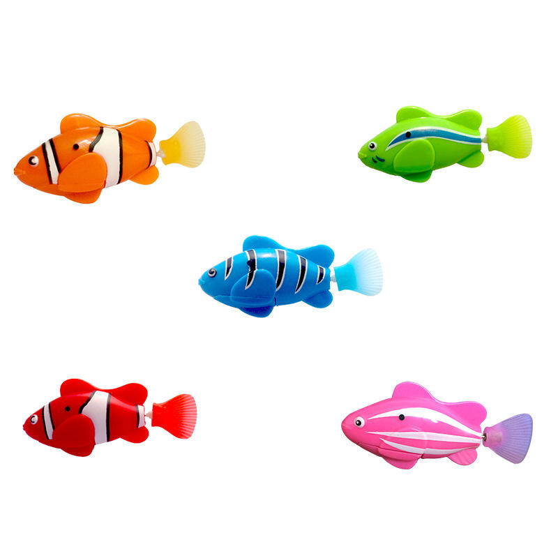 Bath Toy Electric Clownfish Sensing Robotic Fish Baby Bathing Water Toy Fish