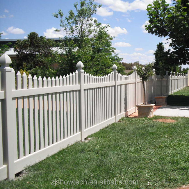 Cheap white pvc vinyl picket fence factory direct sell