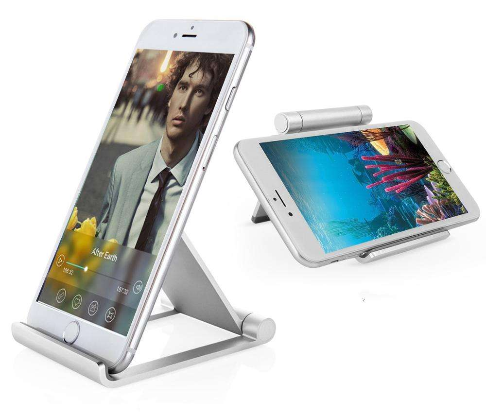Adjustable foldable metal aluminium table mobile phone holder stand