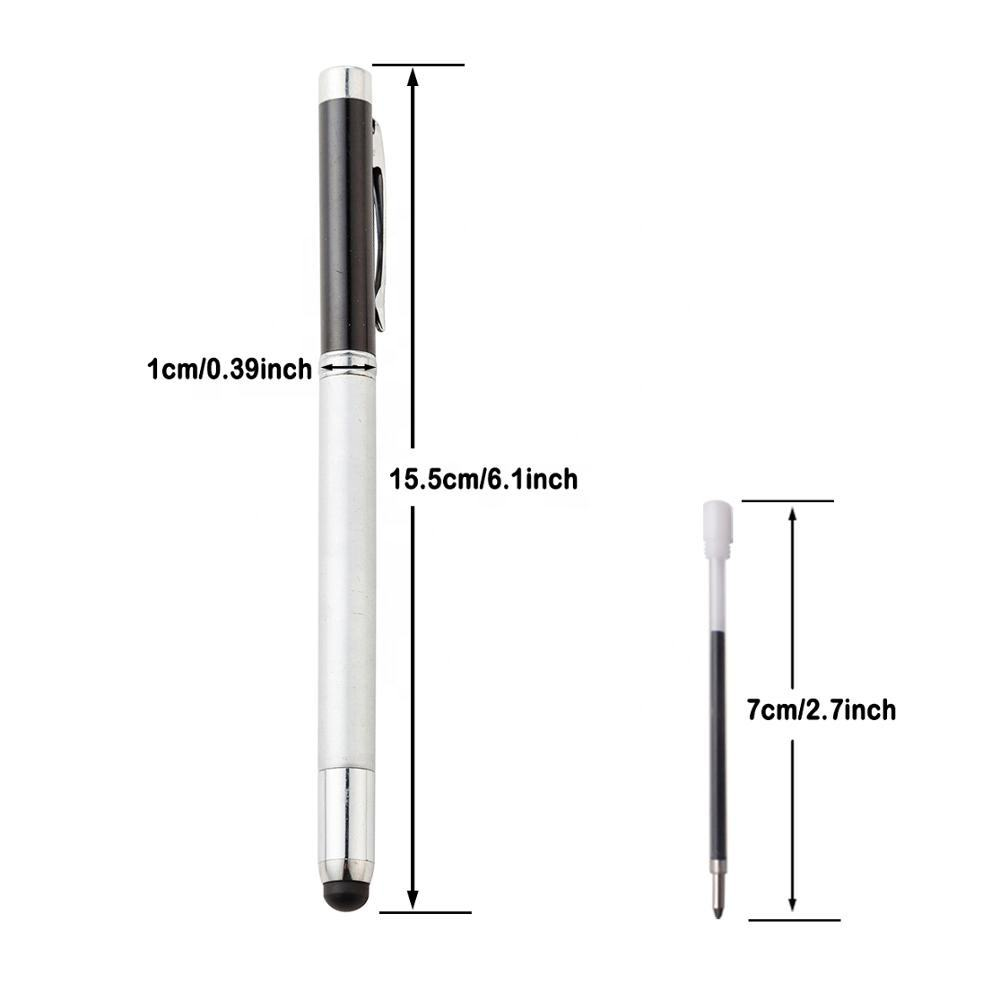 2019 Good Quality Metal Multifunction Ball Pen Laser pointer Teach Telescopic Roller Stylus Tip Pen with Custom Logo
