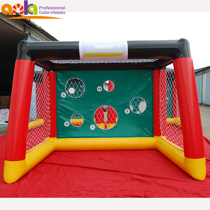Inflatable football dart board soccer shooting door/ inflatable target shooting gate for play