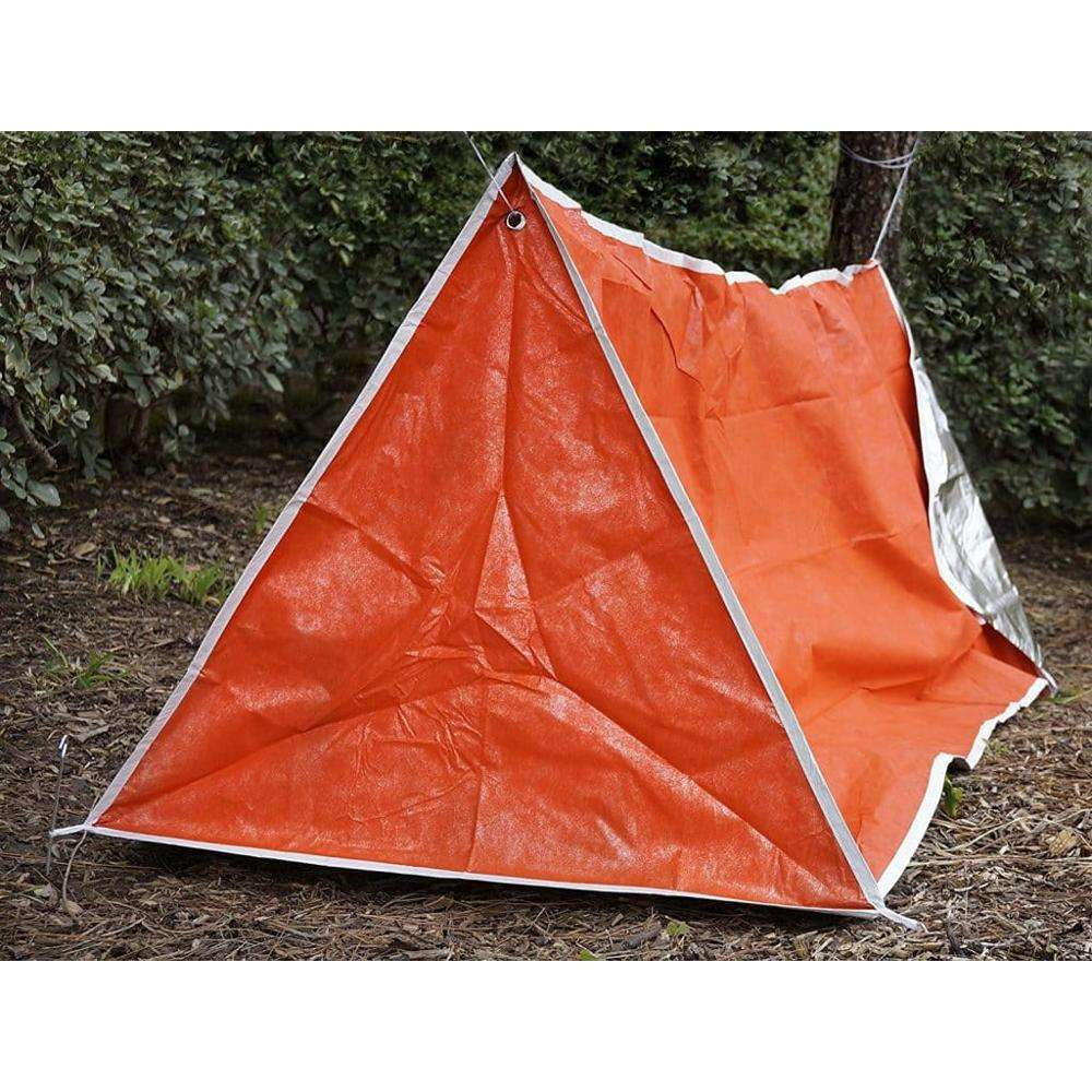 Emergency Survival Camping Shelter Tarp Orange & Silver Mylar Solar Tube Tent