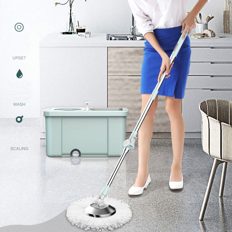 BOOMJOY New Spin Double Bucket Mop with Spray Mouth 2 Models Choices Magic Rotating Mop M12/M13